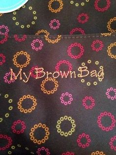 Initials, Inc. NEW My Brown Bag Lunch Lady Tote Circle Up NWT