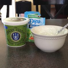 Greek yogurt ranch dip. So good with veggies! Made it so I'd have a healthy snack option.