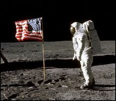 Neil Armstrong, first man on the moon...1969