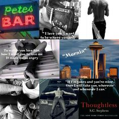Thoughtless by SC Stephens  Kellan ♥ Kiera #DBags #PetesBar
