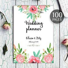 Wedding planner printable wedding planner wedding binder diy bohemian wedding planner diy wedding binder wedding by clairetale solutioingenieria Images