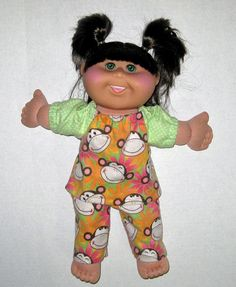 Cabbage Patch Doll Clothes Monkey Flower Pajamas by Dakocreations