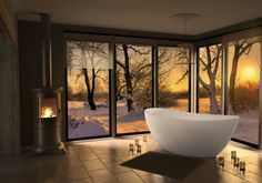 Viena fra Interform, ett frittstående badekar i kompositt. Bathroom Goals, Bathroom Inspo, Master Bathroom, Design Architect, Architecture Design, Hygge, Bathroom Accessories, Luxury Homes, Bathtub