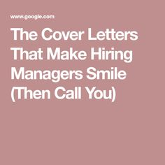 12 great cover letter examples