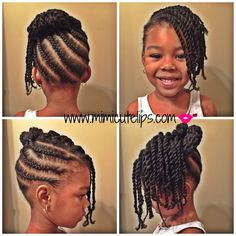 Natural Hairstyles for Kids. II - MimiCuteLips natural hairstyles for kids 8 Little Girls Natural Hairstyles, Cute Little Girl Hairstyles, Baby Girl Hairstyles, Kids Braided Hairstyles, Toddler Hairstyles, Girl Haircuts, Braids For Kids, Girls Braids, Toddler Braids