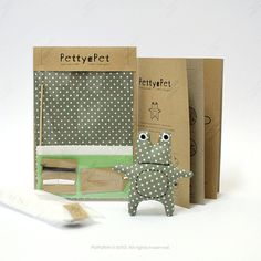 Make Your Own PettyPet Froggy Sewing Kit by PUPURIN on Etsy, $8.00