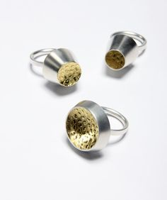 """INGA REED-UK/IR """"Her inventive use of roller embossing onto gold and other precious metals has established her position as one of Ireland's most inventive designer jewellers"""""""