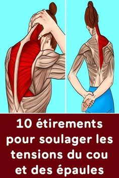10 stretches to relieve neck and shoulder tension - Pctr UP Lemon Benefits, Coconut Health Benefits, Shoulder Tension, Stomach Ulcers, Natural Cures, Trauma, Pilates, Health Tips, The Cure