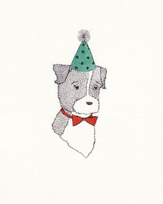 Pet Portrait by ElisabethMcNair on Etsy.