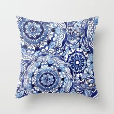Buy Delft Blue Mandalas Throw Pillow by noondaydesign. Worldwide shipping available at Society6.com. Just one of millions of high quality products available.