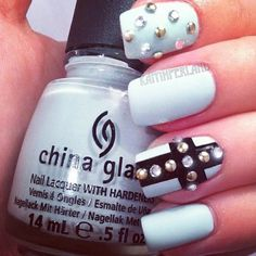 Cute.  I want to try except with nail polish dots