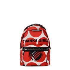63276c3238 Shop the Thanks Girls Print Falabella GO Backpack by Stella Mccartney at  the official online store