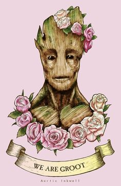 found this girly groot pic from an 8tracks mix. :) cute