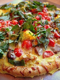 Ultimate Breakfast Pizza Recipe (I use Boboli's Store Bought Packaged Original Pizza Crust!)