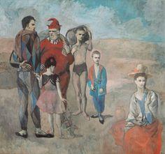 Familia de saltimbanquis. 1905. Periodo rosa.