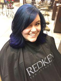 Everybody loves some #galaxyhair and #redken glitter #sparkle spray #pravanablue #pravanapurple #hairbykarleeann #ellemariekarlee #ellemarielakestevens