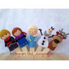 Frozen finger puppet Instagram: @id_dongengjari