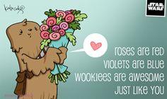 Free Katie Cook Star Wars Valentines: Wookie