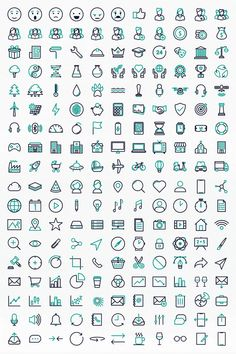 App Design Inspiration, App Icon Design, Logo Design, Flat Design Icons, Mini Drawings, Easy Drawings, It Icons, Animated Icons, Bullet Journal Writing