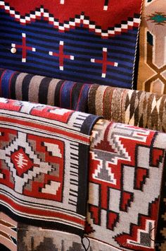 Navajo blankets at Hubble Trading Post, Az.