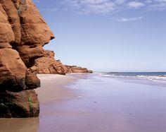Beach and Cliffs Iles-de-la-Madeleine