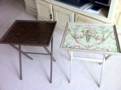 Before and after tv trays!