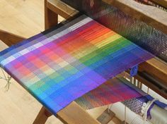 Color Gamp woven in Weaving the Rainbow with Judith Yamamoto at Sievers School of Fiber Arts.
