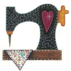 Resultado de imagen de dibujo maquina de coser patchwork