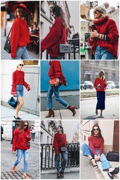 Zo een lekkere warme, oversized, rode trui... mmm! ❤️