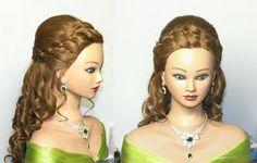 Romantic prom bridal hairstyles for long hair. Cute Hairstyles Updos, Cute Hairstyles For Medium Hair, Open Hairstyles, Short Hair Updo, Long Hair With Bangs, Formal Hairstyles, Wedding Hairstyles, Hairdos, Short Hair Styles Easy