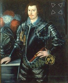 A portrait of Sir John Davis. By an unknown artist. A brilliant mathematician and soldier, Davis was knighted for his part in the fall of Cadiz, but was later sentenced to death for taking part in the Essex Rebellion against the Queen in Elizabethan Costume, Elizabethan Era, Elizabethan Fashion, Tudor History, British History, Asian History, Historical Women, Historical Photos, Tudor Era