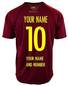 2282a9d3e Details about FC Barcelona Soccer Jersey   Add Any Name and Number Lionel  messi 10