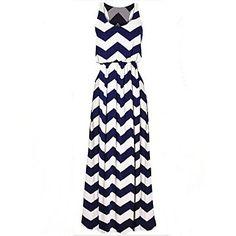 eenvoud ronde kraag golf van vrouwen rekbare lange jurk – EUR € 29.99