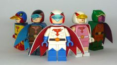 LEGO Gatchaman Minifigs - or Battle of the Planets if you're an eighties kid.