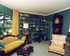 Built in bookcase in Senator Margaret Chase Smith's living room.