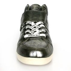 Robins Jean Fashion Sneakers Men Harrington (13, Gunmetal) Material: Patent Leather Upper and Rubber Outsole. Celebrity Fashion Shoes. Unique urban style design. Made in Vietnam by Robin's Jean Footwear in Los Angeles. Made for everyday walking.  #Robin's_Jean_Footwear #Shoes