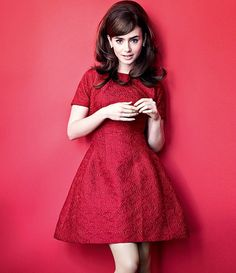 Lily Collins Audrey Hepburn Old Hollywood Classic
