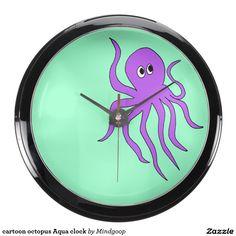 cartoon octopus Aqua clock