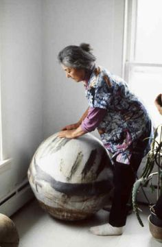 """""""In my life I see no difference between making pots, cooking and growing vegetables. They are all so related. However, there is a need for me to work in clay. It is so gratifying and I get so much joy from it, and it gives me many answers in my life.""""      Toshiko Takaezu (June 17, 1922 – March 9, 2011)"""