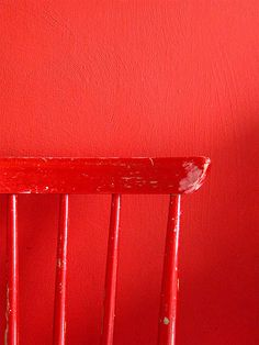 Red Wall and Chair by Goosewoman