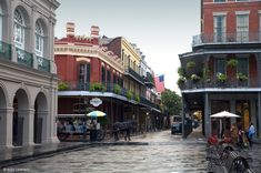 the corner of jackson square in new orleans with one of our favorite restaurants; muriel's