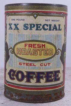 Antique XX Special Coffee Tin Can Young-Mahood Co 1lb Farmhouse Decor