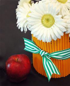 charming pencil centerpiece for teacher gift or a back-to-school party
