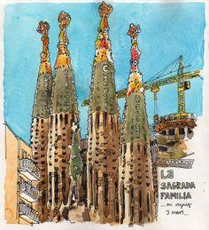 Sagarada Família, Barcelona.