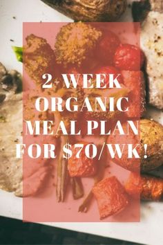 2-week Organic Meal Plan