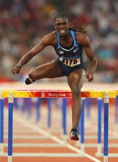 Dawn Harper (born May 13, 1984) from East St. Louis, Illinois is an American track and field athlete who specializes in the 100-meter hurdles. She was the gold medalist in the event at the 2008 Beijing Olympic Games. She is trained by Bob Kersee, husband of Jackie Joyner-Kersee, six time Olympic medalist.  During her time with the UCLA Bruins, Harper won the sprint hurdles at the US Junior Championships and at the Pan American Junior Athletics Championships.