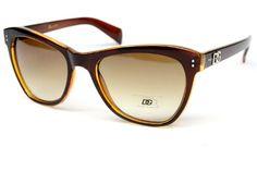 ($9.95) Dg Eyewear Vintage Retro Wayfarer Sunglasses Womens Brown D874 From DG Eyewear