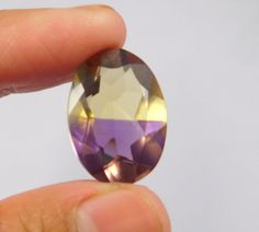 15 Cts. Treated Faceted Oval Shape Ametrine Cut Loose Cab Gemstone NG1899 #Handmade