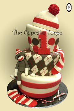 Sock Monkey Cake, we r having a monkey birthday love this cake. Pretty Cakes, Cute Cakes, Beautiful Cakes, Amazing Cakes, Yummy Cakes, Sock Monkey Cakes, Monkey Birthday Cakes, Take The Cake, Love Cake
