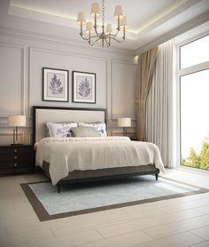 Master Bedroom Design Idea Picture Luxury 57 New Trend and Modern Bedroom Design Ideas for 2020 Part Luxury Bedroom Design, Master Bedroom Design, Home Bedroom, Bedroom Wall, Wainscoting Bedroom, Bedroom Ideas, Luxury Master Bedroom, Master Bedrooms, Simple Bedroom Design